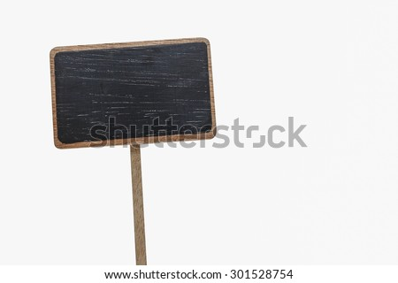 Blank blackboard label isolated on a white background