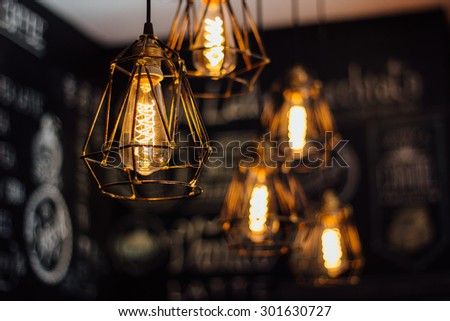 indoor light, coffee shop #301630727