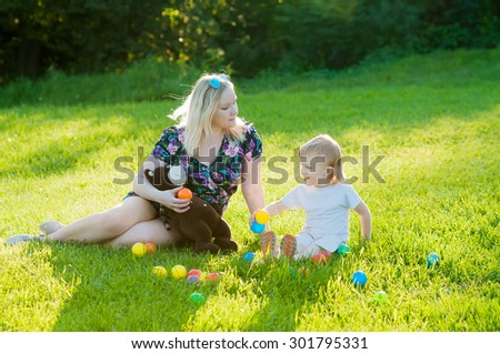 Happy Mother and Her Son Have Similar Blond Hair  #301795331
