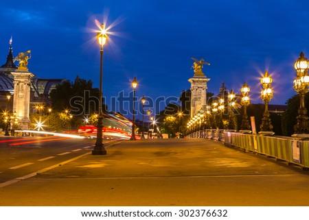 Alexandre III bridge in Paris #302376632