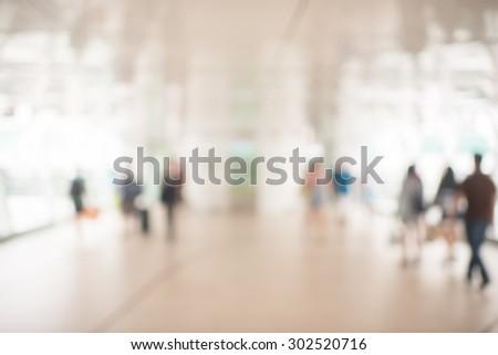 blur picture of  walk way