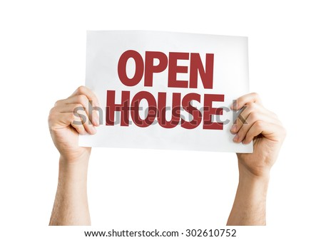 Open House card isolated on white