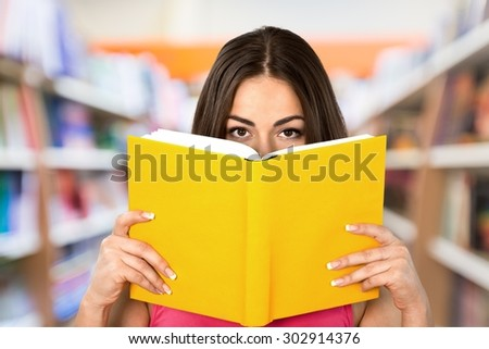 Book Reading, Women, Holding. #302914376
