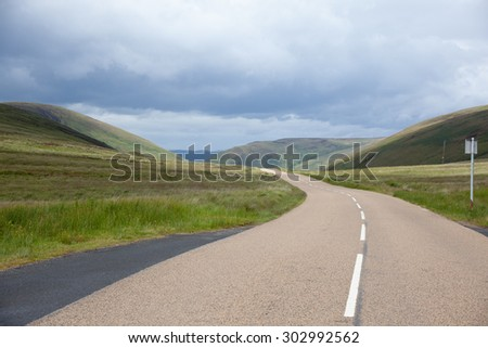 Road over the hills on Isle of Arran, Scotland #302992562