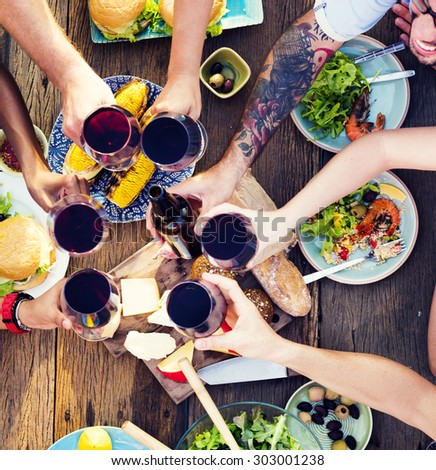 Food Table Celebration Delicious Party Meal Concept #303001238