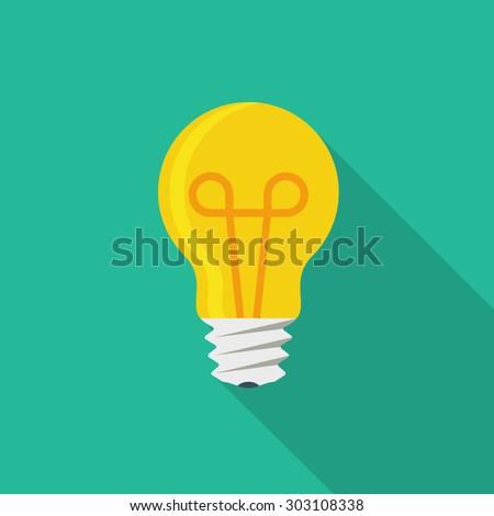 Light bulb icon Royalty-Free Stock Photo #303108338