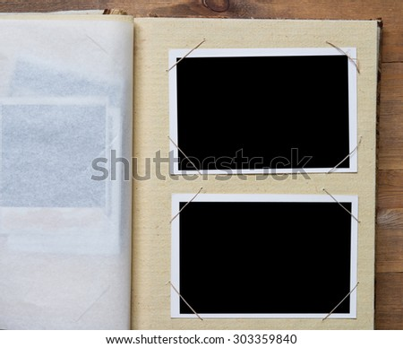 photo frames in a book #303359840