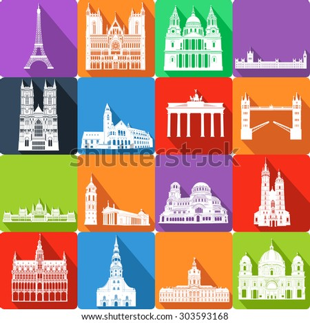 landmarks, vector illustration #303593168
