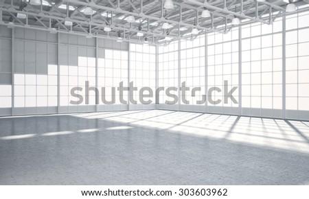 Illustrated warehouse #303603962