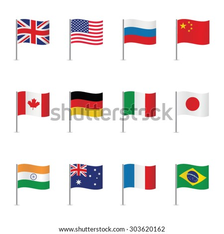 World flags. Vector set. #303620162