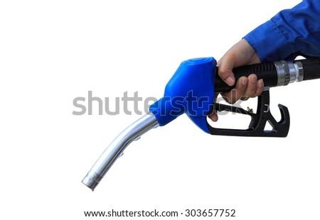 Fuel nozzle isolated white background #303657752