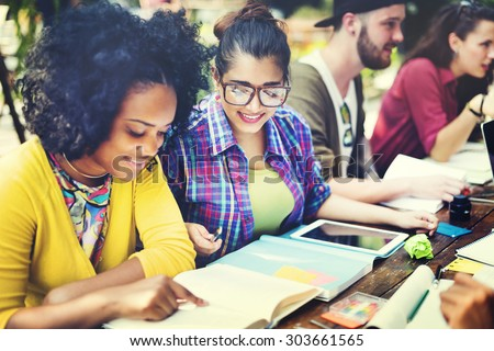 Diverse People Studying Students Campus Concept #303661565