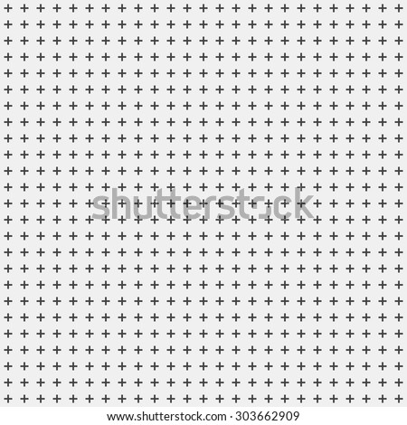 White abstract background with seamless random dark crosses, dots, grunge texture for design concepts, posters, banners, web, presentations and prints. Vector illustration.