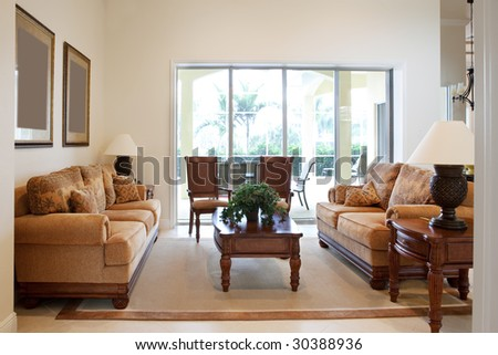 Home Interior, Living Room With Couches #30388936
