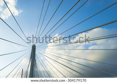 Abstract pattern by bridge wire, Hong Kong, China #304179170
