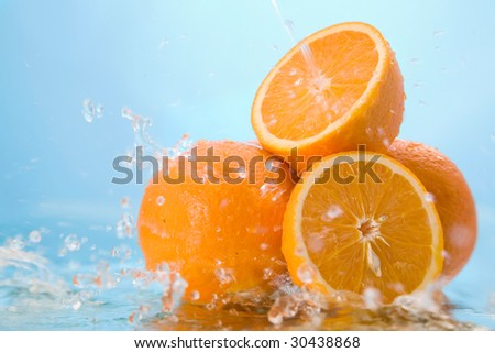 orange in water #30438868
