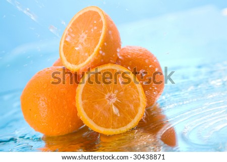 orange in water #30438871