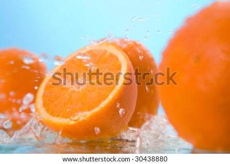 orange in water #30438880