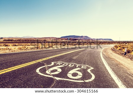 Route 66 Royalty-Free Stock Photo #304615166