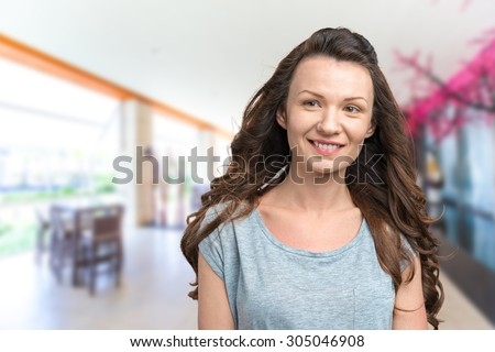 Young woman in casual clothes #305046908