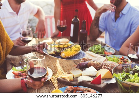 Diverse People Luncheon Food Sharing Concept #305146277