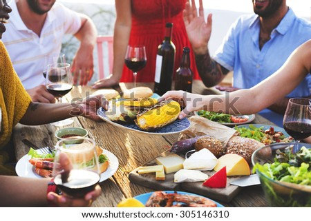 Diverse People Luncheon Food Sharing Concept #305146310