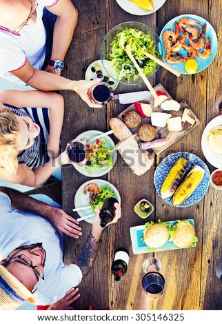 Food Table Celebration Delicious Party Meal Concept #305146325