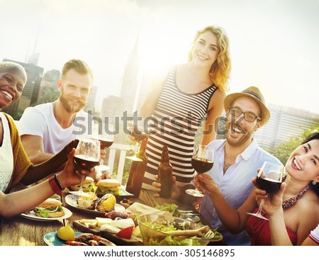 Friend Friendship Dining Celebration Hanging out Concept #305146895