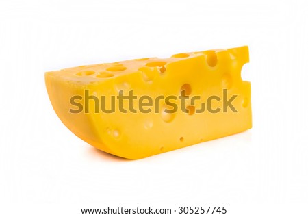 piece of cheese isolated #305257745