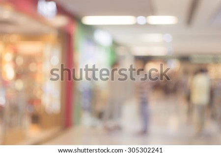 Abstract background of shopping mall, shallow depth of focus. #305302241