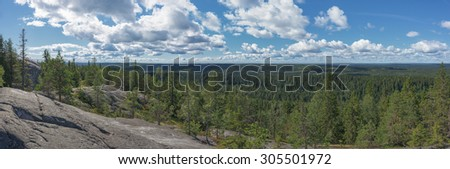 Panoramic view from the top of the Koli national park