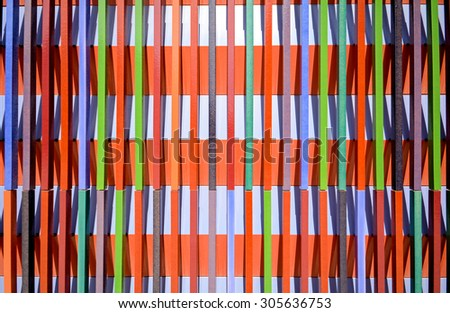 Modern pattern of facade paneling - linear structure #305636753