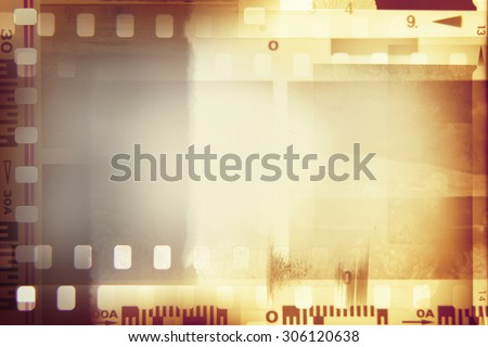 Film negative frames background. Blank copy space