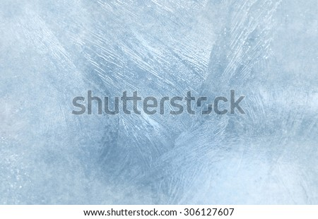 Ice on a window, background Royalty-Free Stock Photo #306127607