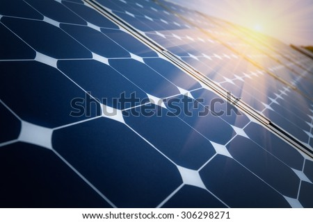 Arrangement of solar energy production plant Royalty-Free Stock Photo #306298271