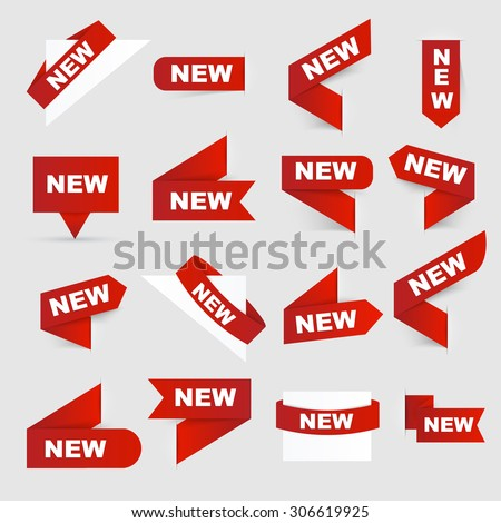 Sign New. New signs. Isolated vector illustration. #306619925