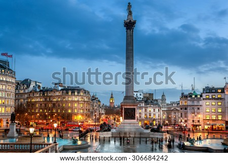 trafalgar Square is a tourist attraction in central London, England. It is home to Nelson's Column, iconic stone lions and Fourth Plinth. It's a must-see destination.