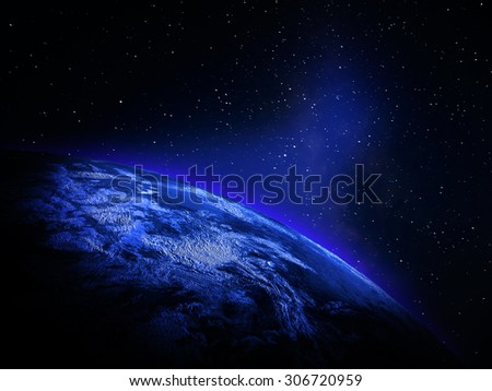Planet Earth from space. Elements of this image furnished by NASA #306720959