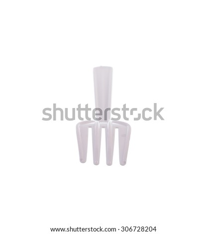 Plastic fork isolated on white background. #306728204