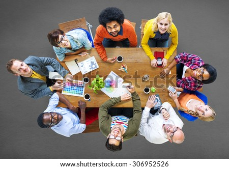 Group of Diverse Designers Having a Meeting Concept #306952526