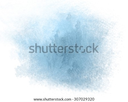 Ice on a window, background Royalty-Free Stock Photo #307029320