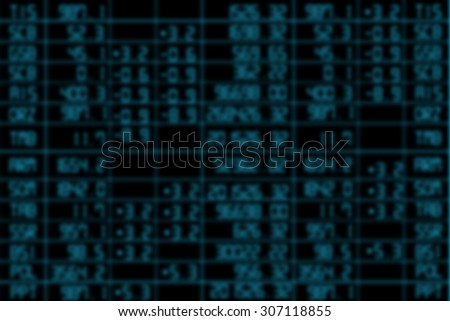 blurry stock market for background