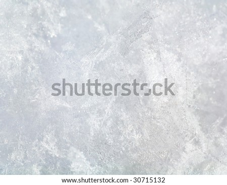 Stucture of snow surface (background) Royalty-Free Stock Photo #30715132