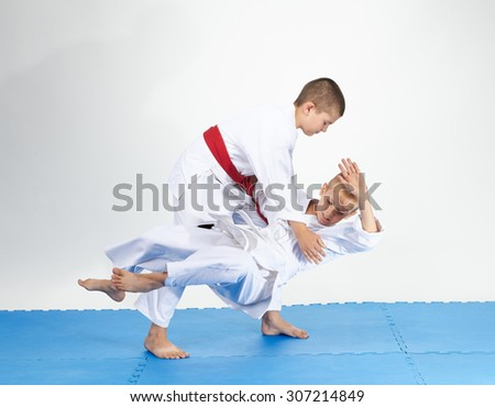 Judo Throws in perfoming by two athletes #307214849