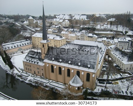 Snowy Luxembourg / Rare image because theres not often snow in Luxebourg #30734173