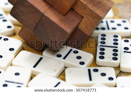 Old School Game Custom laser cut  dominoes #307418771
