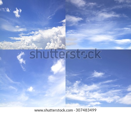 Clouds And Clear Blue Sky Weather Nature. #307483499