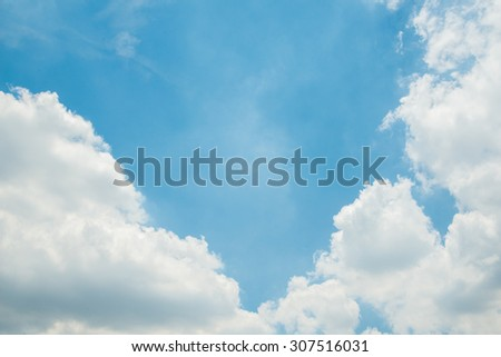 Blue sky background with clouds. #307516031
