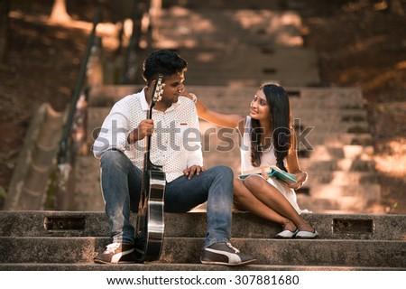 Indian Asian Malaysian couple  #307881680