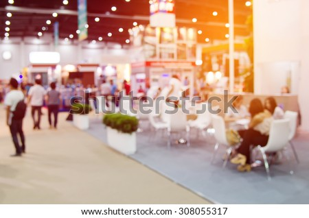 abstract blurred event with people for background Royalty-Free Stock Photo #308055317
